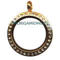 Золотой малый кулон с кристаллами Svarovski