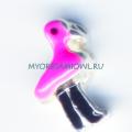 Купить шарм Оригами Оул Розовый фламинго