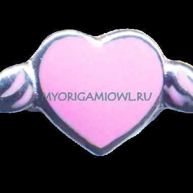 Купить шарм сердце на крыльях любви для My Origami Owl