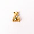 Золотой медведь шарм My Origami Owl