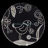 Черная тарелка с Птичкой