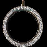 Купить золотой кулон с кристаллами Svarovski в 2 ряда